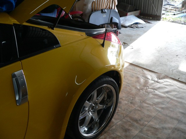 Check left rear tail fitment and aerial fitment.